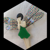 Dragonfly Fairy by Lea Stein in Green - (SOLD)